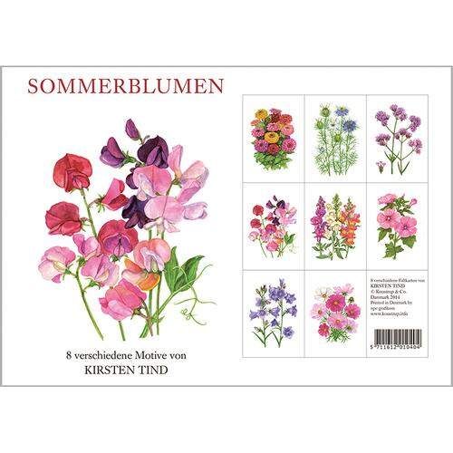 SOMMERBLUMEN - 8 cards (german)