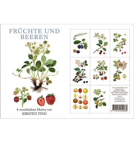 Fruit and berries - 8 cards (german)