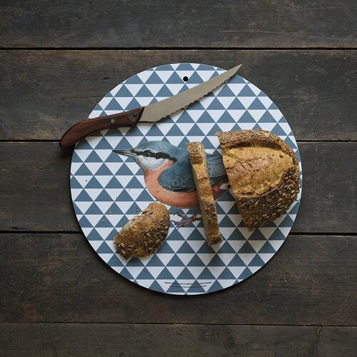 CUTTING BOARD / WALL DECORATION - Coal tit Ø35