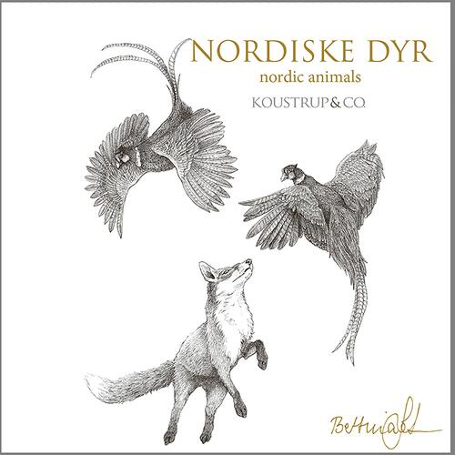 NORDIC ANIMALS - Square card folder