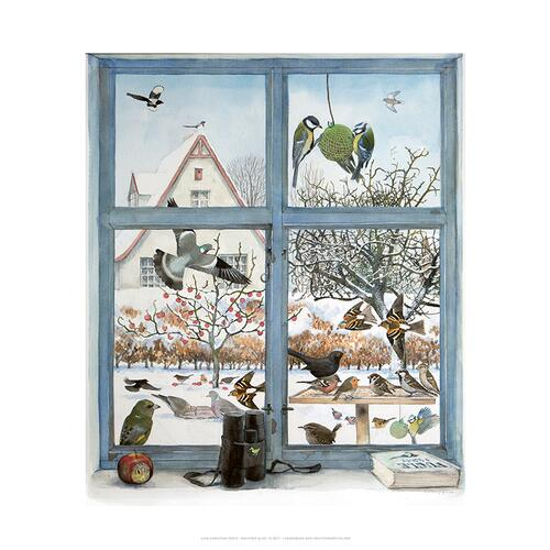 ART PRINT B2 - 50x70 Birds seen from the window