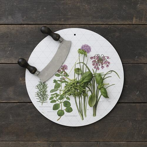CUTTING BORD / WALL DECORATION - Herbs Ø35