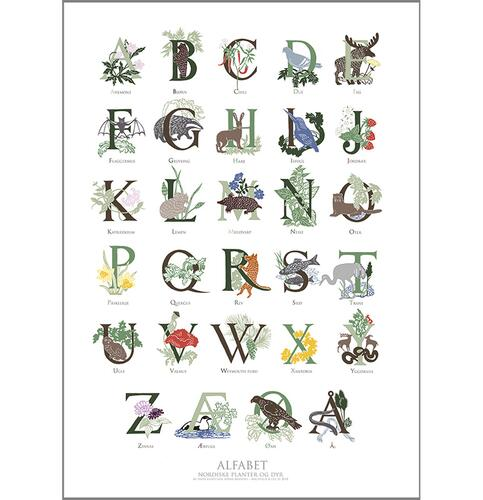 ART PRINT B2 - 50X70 - ABC NATURE (norwegian)