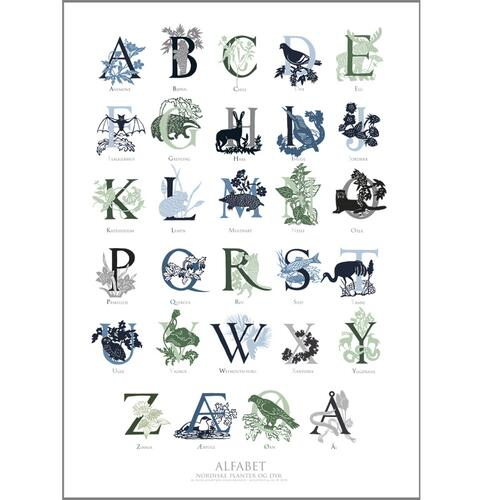 ART PRINT B2 - 50X70 - ABC green/blue (norwegian)
