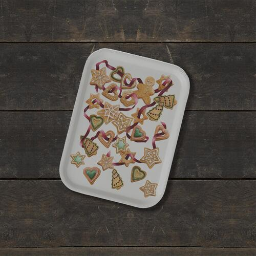 TRAY 20x27 - Gingerbread