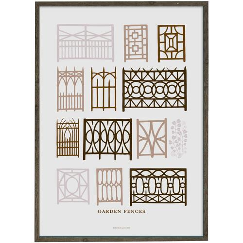 ART PRINT - Garden fences (peach) - CHOOSE SIZE