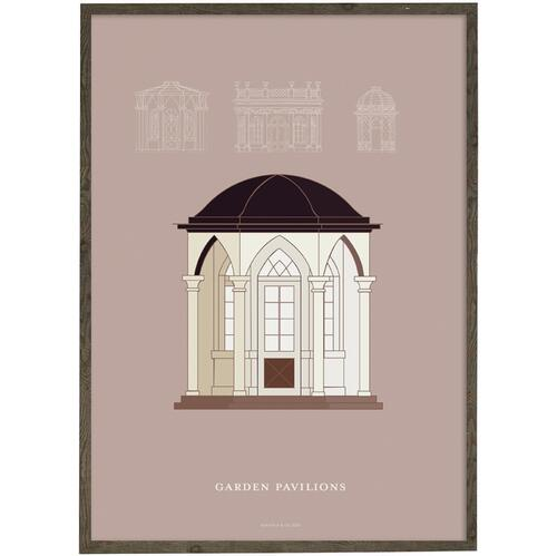 ART PRINT - Garden pavillon (peach) - CHOOSE SIZE