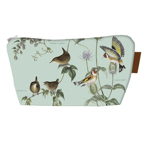 COSMETIC BAG - Birds of the garden (with bottom)
