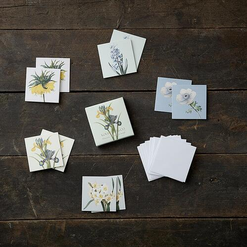 SQUARE MINI CARDS - Blooming spring - 8.5 x 8.5 cm