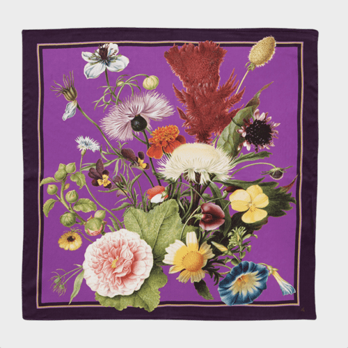SILK SCARF - Purple
