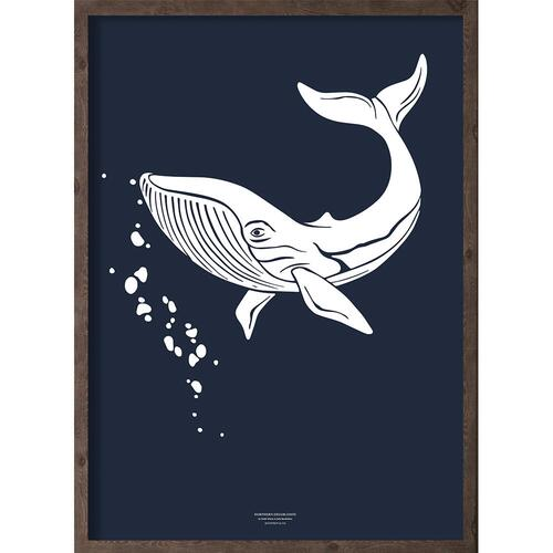 Arfeg (arctic dark blue) - ART PRINT - CHOOSE SIZE