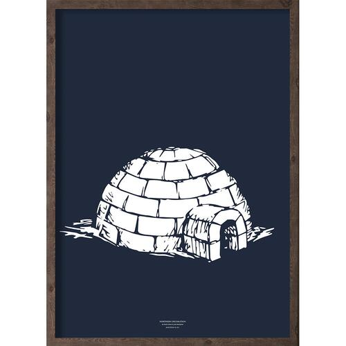 Iglo (arctic dark blue) - ART PRINT - CHOOSE SIZE