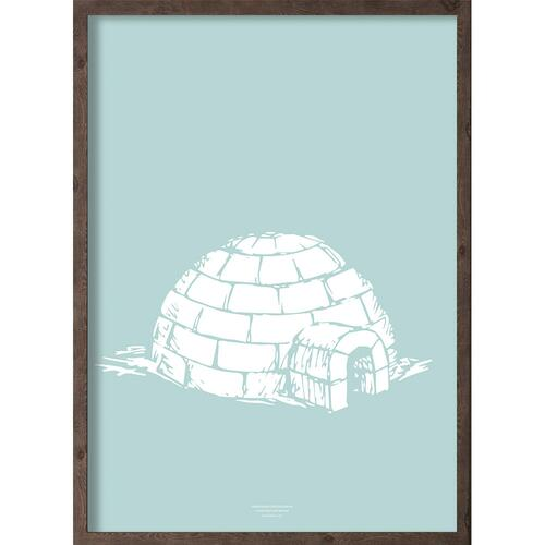 Iglo (arctic ice blue) - ART PRINT - CHOOSE SIZE