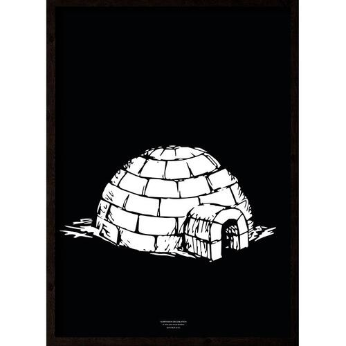 Iglo (black-white) - ART PRINT - CHOOSE SIZE