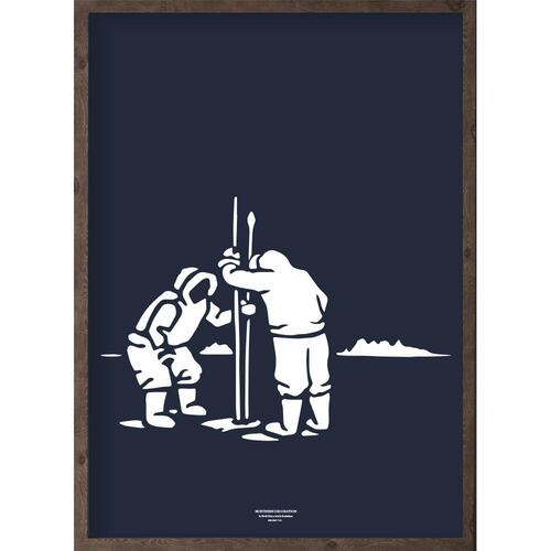 Inuit (arctic dark blue) - ART PRINT - CHOOSE SIZE