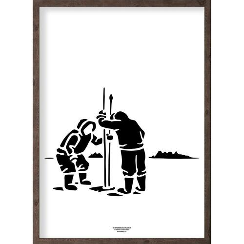 Inuit (black-white) - ART PRINT - CHOOSE SIZE