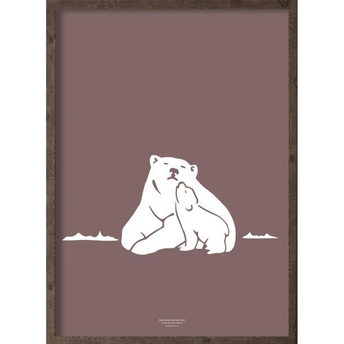 Nanoq (arctic purple) - ART PRINT - CHOOSE SIZE