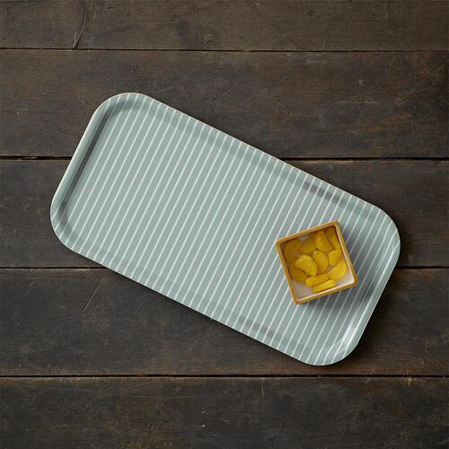Tray 43x22 - Stripes light green