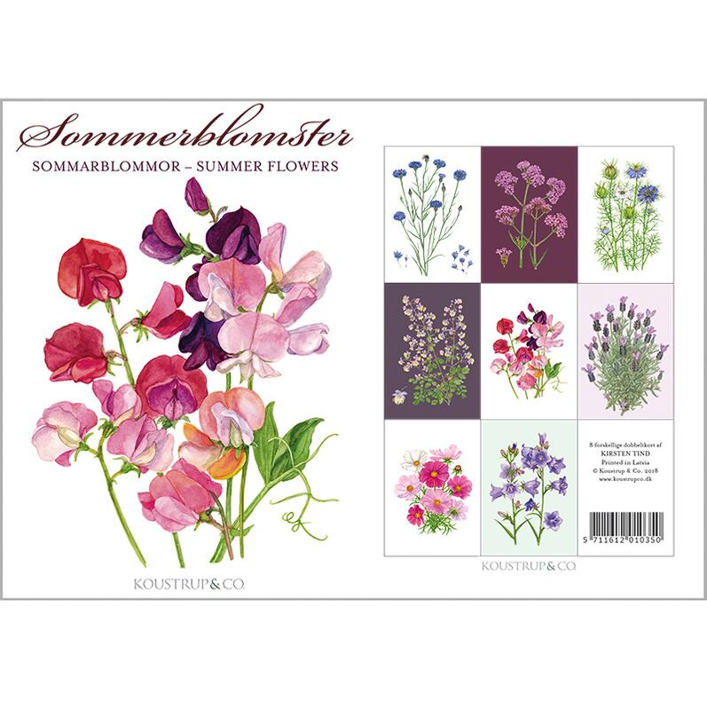 SUMMER FLOWERS - 8 cards