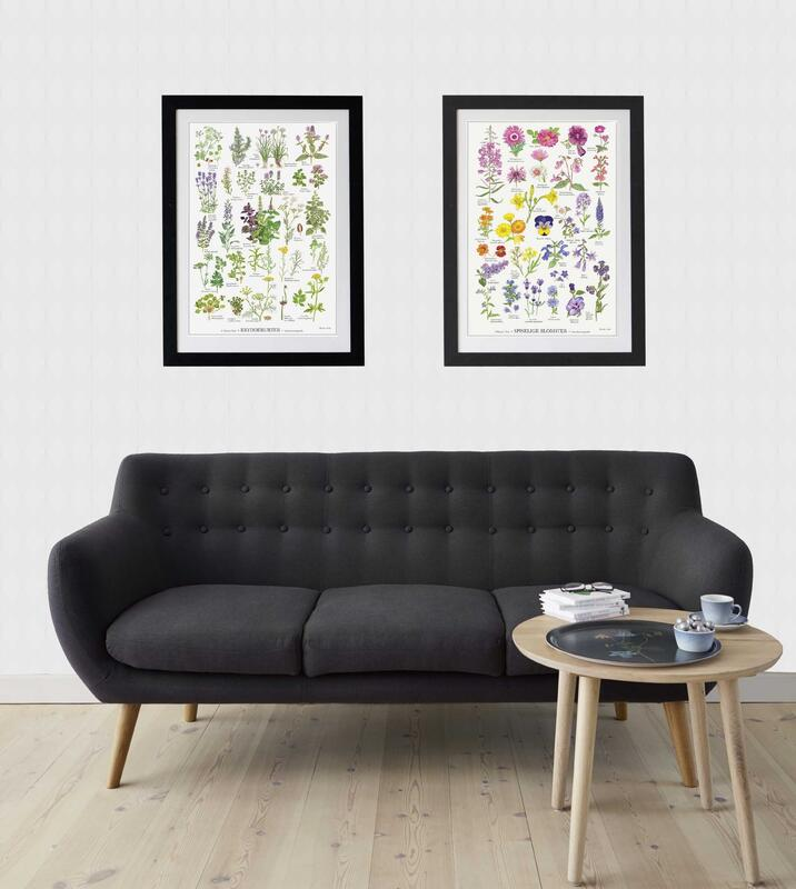 EDIBLE FLOWERS (SPISELIGE BLOMSTER) - POSTER A2