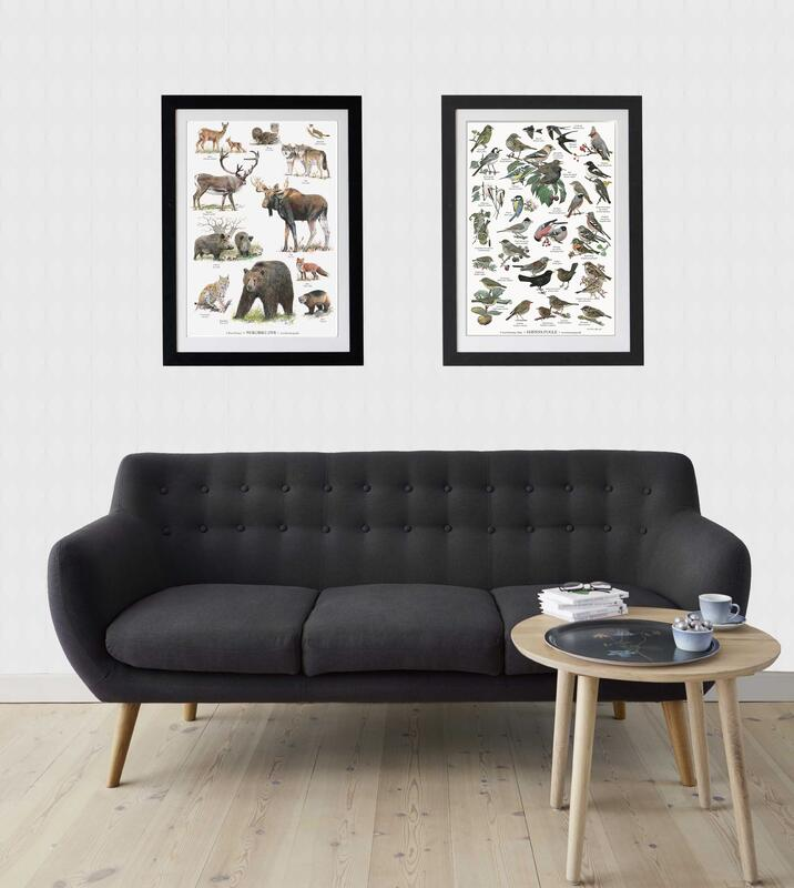 NORDIC ANIMALS (NORDENS DYR) - POSTER A2