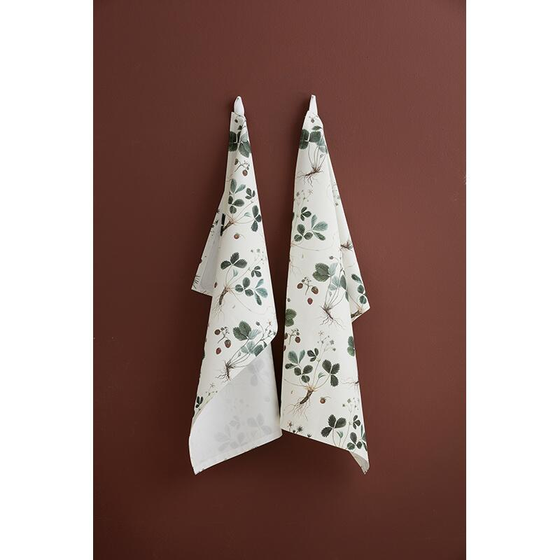 ORGANIC TEA TOWEL - Strawberry