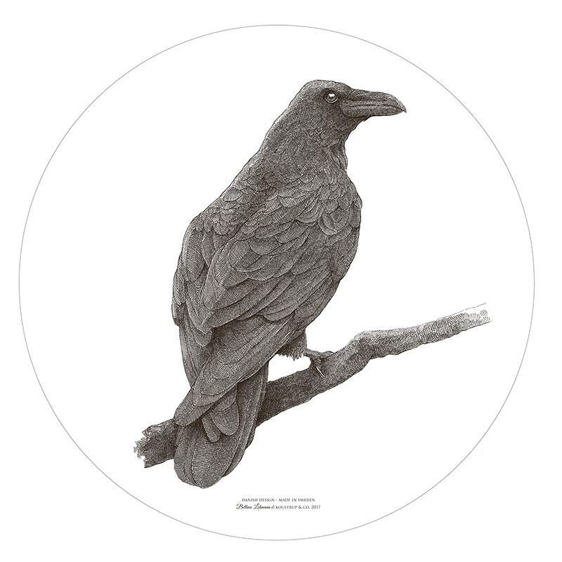 CUTTING BOARD / WALL DECORATION - Stag / Odins raven Ø35
