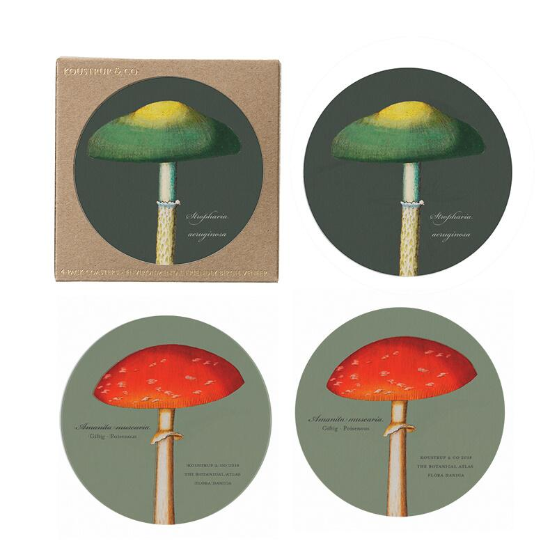 COASTERS - Mushrooms - 4 pack