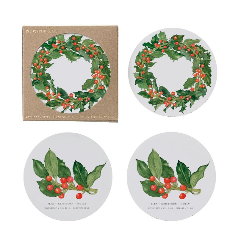 COASTERS - Holly - 4 pack