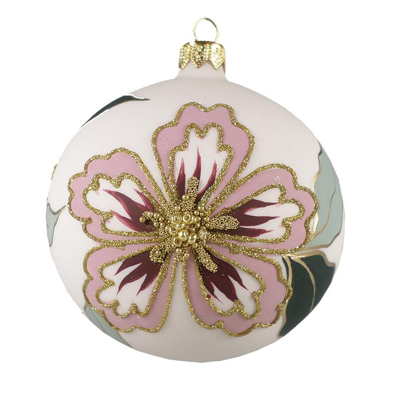 GLASS BAUBLES - ROSA/BORDEAUX