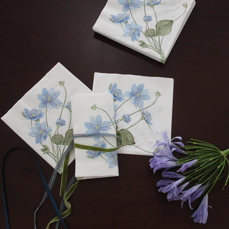 NAPKINS - Blue anemone - 20 pcs in a package