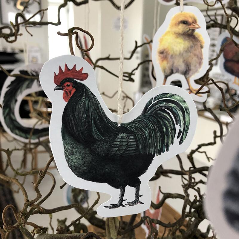 CHICKEN DECORATION - CUT AND CLIP