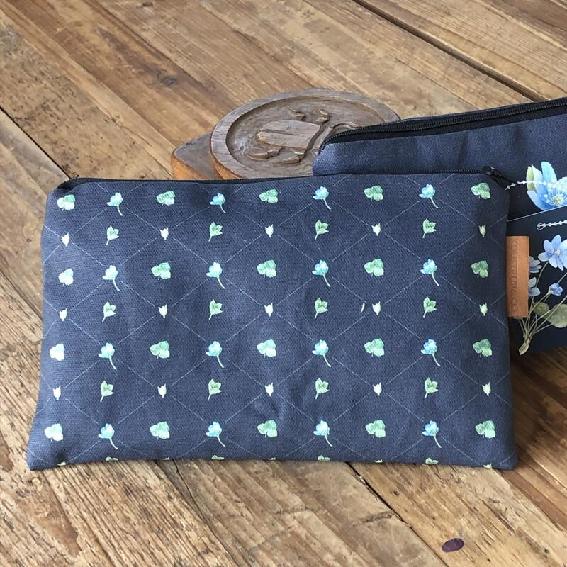 COSMETIC BAG - Blue Anemone pattern