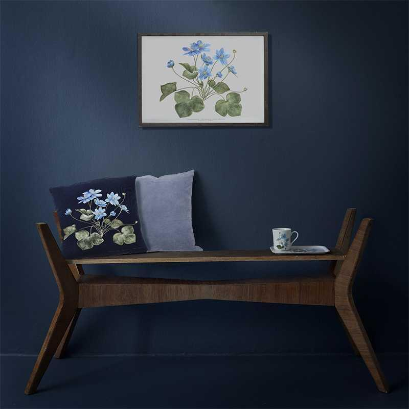 CUSHION COVER - Blue Anemone 48x48 cm