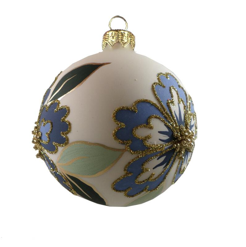 GLASS BAUBLES - blue/green