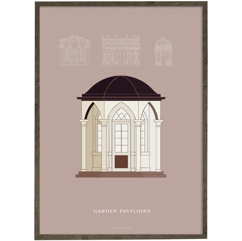 Garden pavillon (peach) - ART PRINT - CHOOSE SIZE