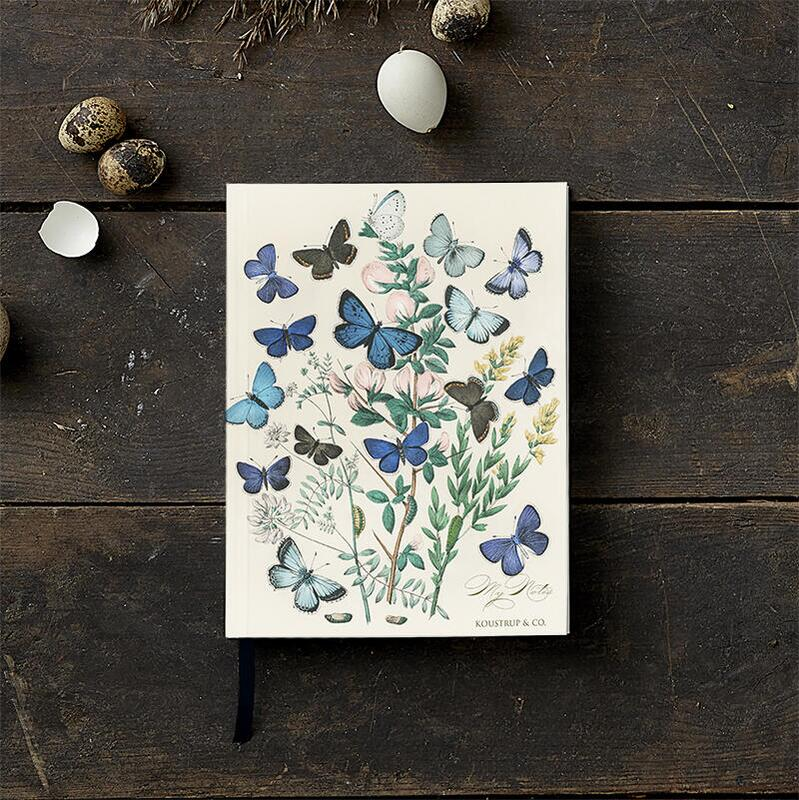 Sketch book with butterflies