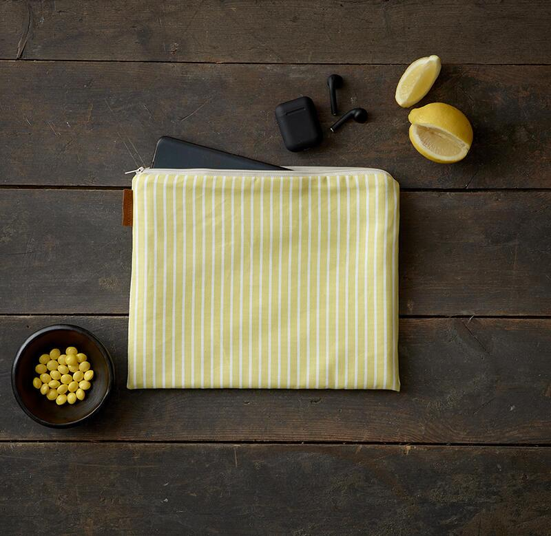 iPad cover - Stripe yellow