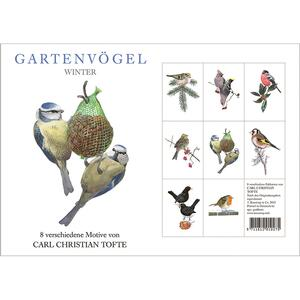 GARDEN BIRDS WINTER - 8 cards (german)