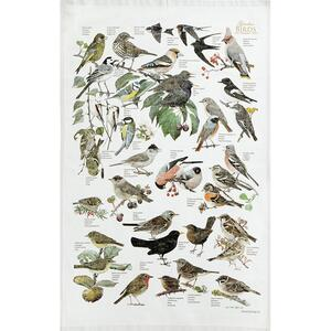 ORGANIC TEA TOWEL - Garden birds