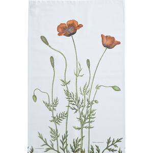 ORGANIC TEA TOWEL - Prickly poppy