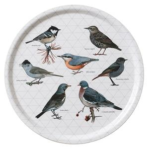 TRAY Ø38 - Birds grey
