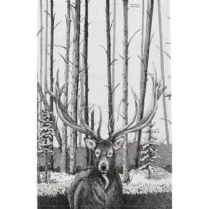 ORGANIC TEA TOWEL - Stag