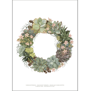 ART PRINT A3 - Succulent wreath
