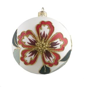 GLASS BAUBLES- RED/BORDEAUX