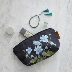 COSMETIC BAG - Blue anemone (with bottom)