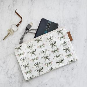 COSMETIC BAG - Amaryllis pattern (flat)