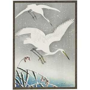 ART PRINT - White heron - CHOOSE SIZE