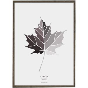 Leaves (grey) Norway maple – KUNSTPRINT - VÆLG STØRRELSE
