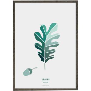 Leaves - Sessile oak (petroleum) - ART PRINT - CHOOSE SIZE